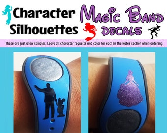 Magic Band Character Silhouette Decal - Solid & Glitter