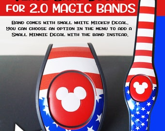 Stars & Stripes Magic Band Decal Skin for 2.0 Magic Band 4th of July American Flag