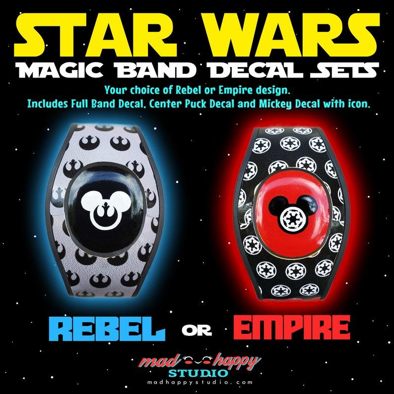 Star Wars 2.0 Magic Band Skin Decal Set image 0