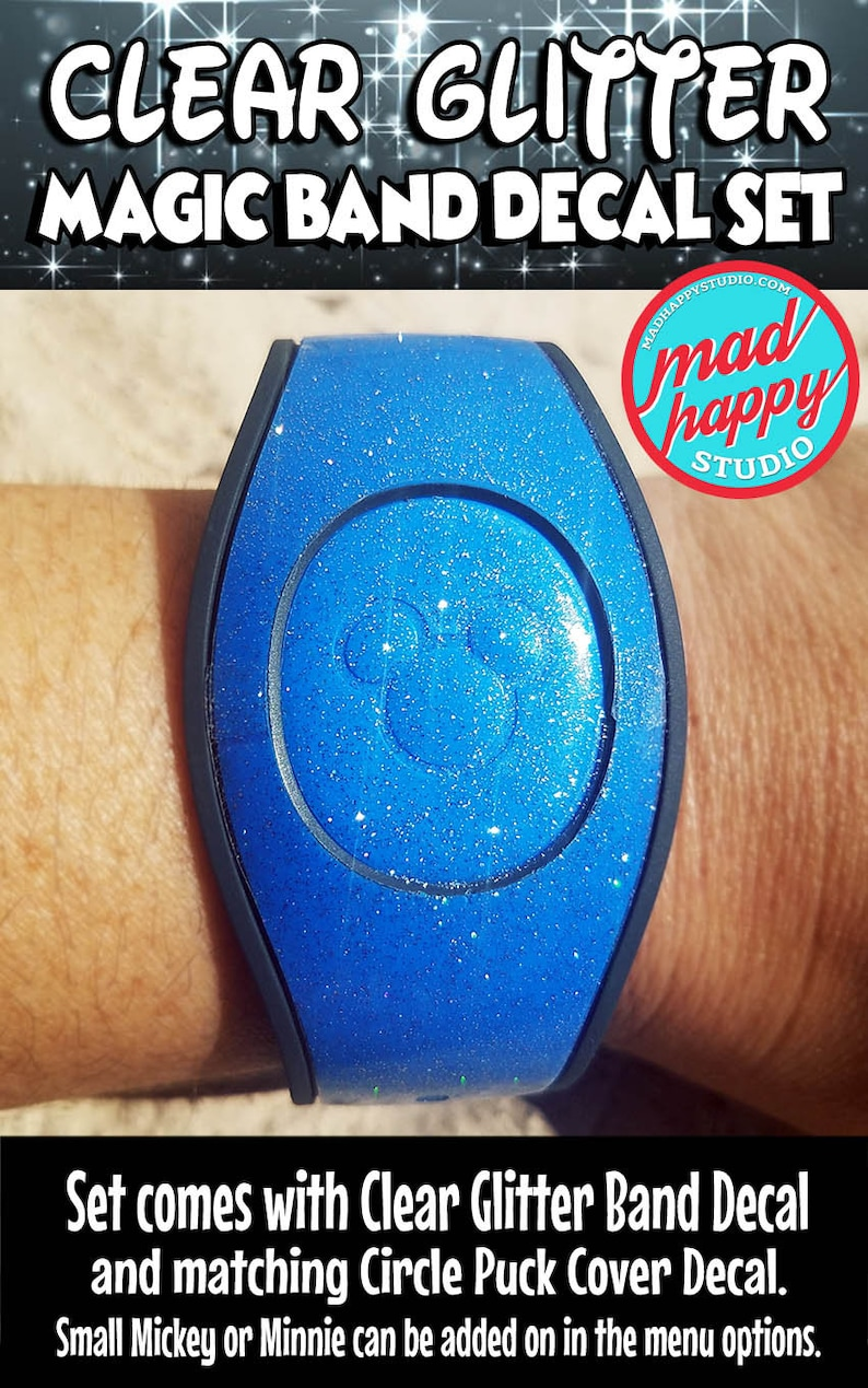 Clear Glitter 2.0 Full Magic Band Cover Decal Set image 0