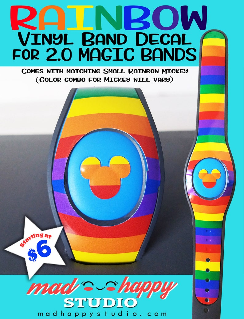 Rainbow Magic Band Decal Skin for 2.0 Magic Band image 0