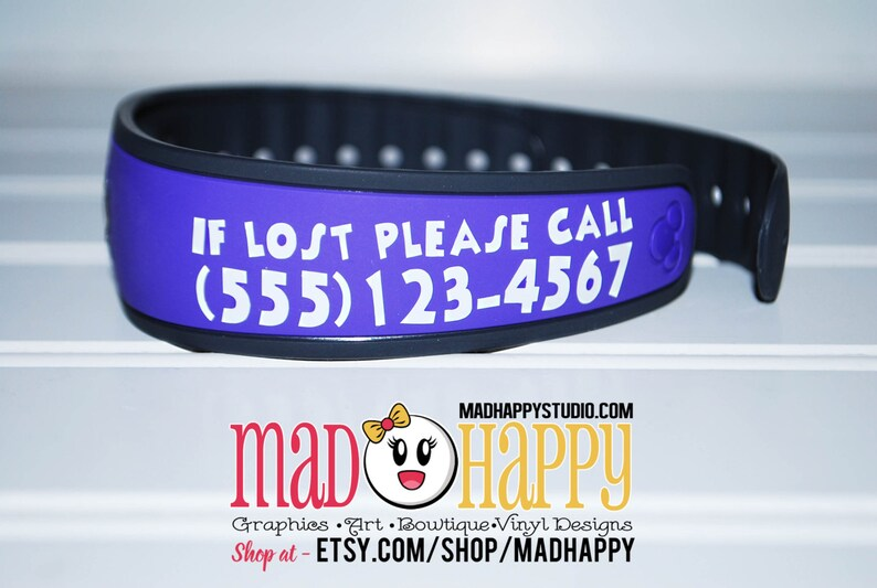Magic Band Contact Information Decal image 0