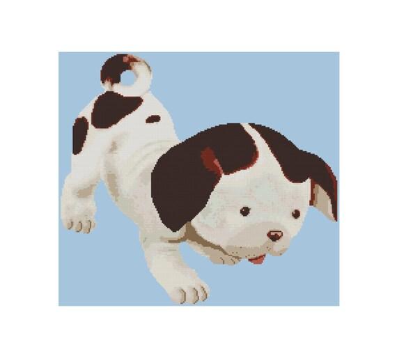 Cross Stitch Pattern Pdf Pokey Little Puppy Vintage Etsy