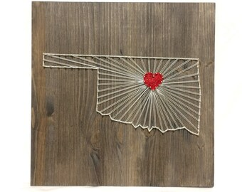 Oklahoma   State String Art Oklahoma Wall Art Home Decor