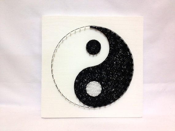 String Art Yin Yang Sign Wall Art Yin Yang Home Decor Black | Etsy
