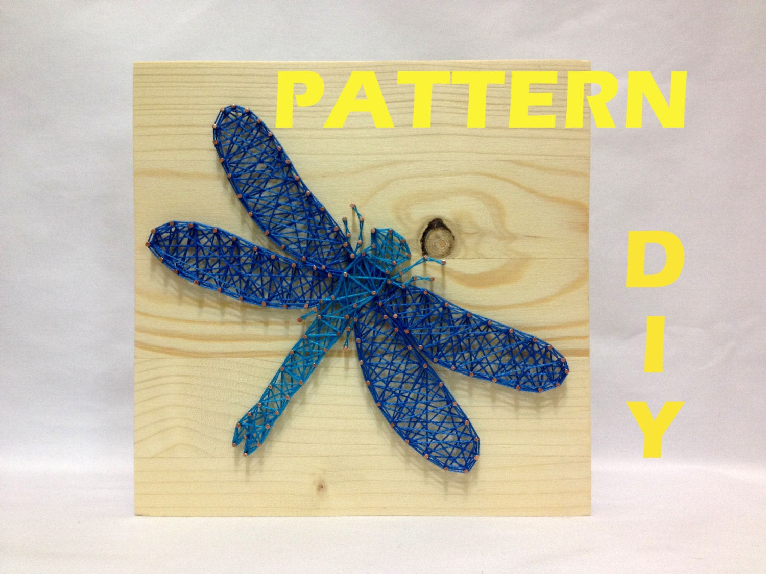 DIY String Art Pattern Dragonfly Pattern and Instructions | Etsy