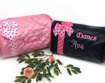 Dance Duffle Bag/ Girls monogrammed bag