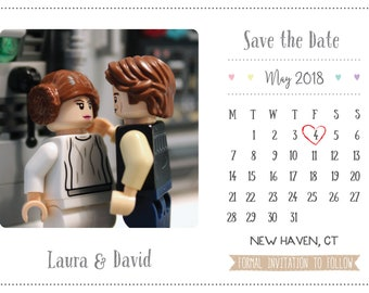 Star Wars Inspired Calendar Save the Date - Printable and customisable.