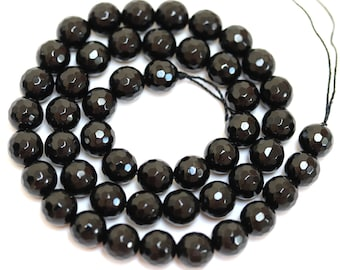 Lot 10 6mm Charcoal Gray Gold Tips Clear Faceted Bicone Center Drill Glass Beads