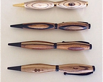 Hand Carved Exotic Wood Pens by Jack Cousin, Fine Art Woodworker & Los Angeles Philharmonic Musician