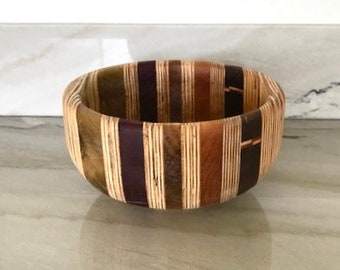 Hand Carved Segmented Wood Bowl by Jack Cousin