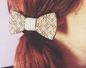 Handmade Wooden Hair Bow | Gift for Her  | Women Hair Bow |Girl Hair Bow|Hair Bow with Elastic Band | Walnut wood | Bow Made in Crete-Greece