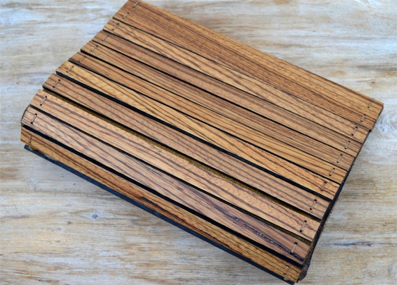 Handmade Wooden Clutch Bag Zebrano Wood 100 Real Leather Etsy