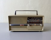 Vintage radio station transistor OPTALIX STUDIO made in France - camping radio