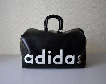 b64f4c3c7784 Vintage ADIDAS sports bag made by MFS in France   genuine Adidas handbag 70s