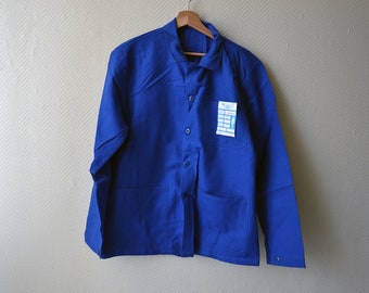 88057fca32d Vintage French Work Jacket   pit worker   chore jacket with 3 front pockets    size S