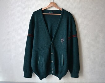 4a386ed439 Vintage Vest GAME   Grandfather Vest   Oversized Jacket   80s