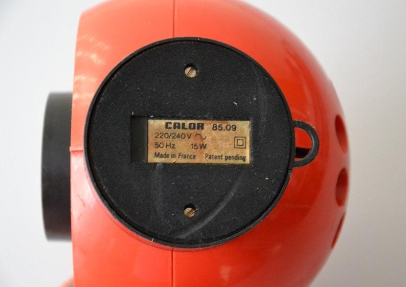 Vintage French desk fan CALOR  Orange Pop 70s