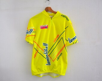 Vintage cycling jersey Martinage made in France / 3 back pockets / large size 6