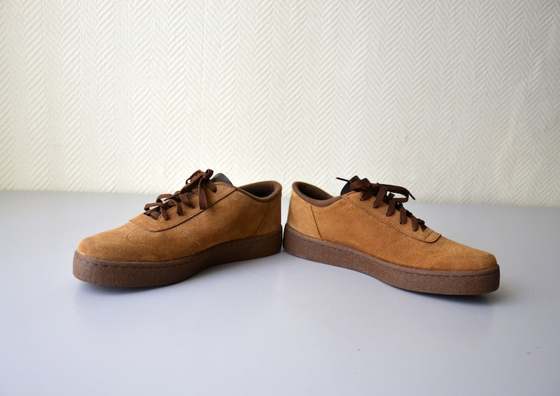 28c76183fcfe Vintage suede leather shoes   sneakers 80s   made in Italy