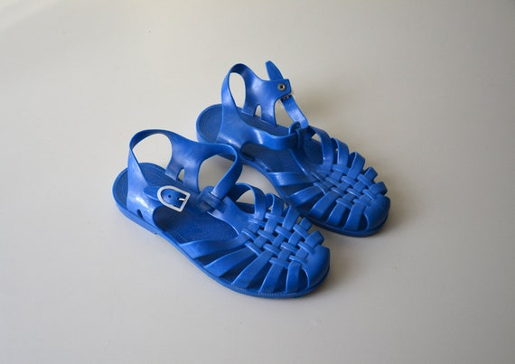 Sandales vintage méduse SARRAIZIENNE made in France sandalettes nu pied plage années 80 taille 40