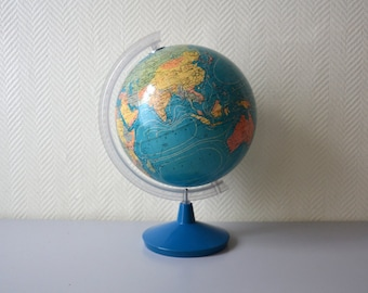 Vintage world globe map TARIDE Paris made in France / world map 60s 70s
