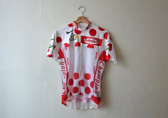 bf619ec96 Tour de France polka dot jersey   Nike cycling jersey