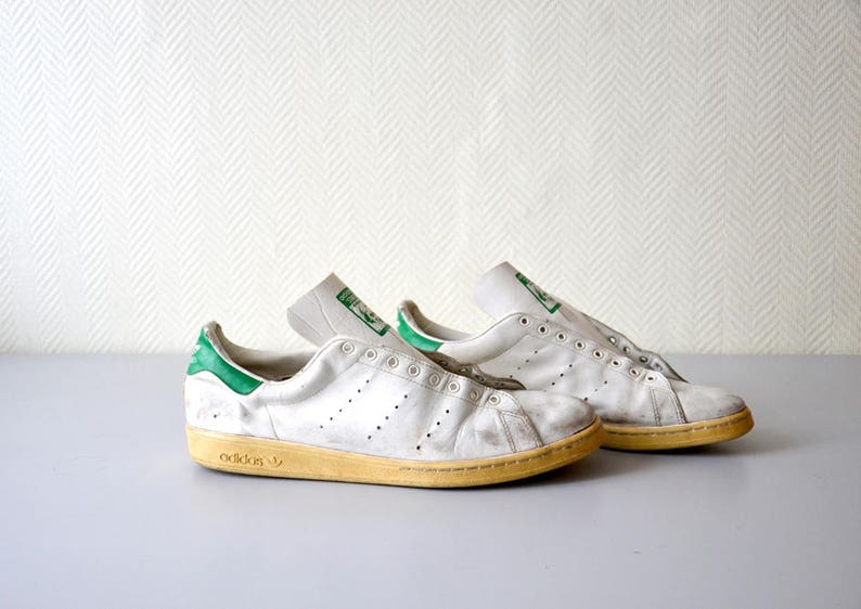 newest a277b eb8a7 Vintage sneakers ADIDAS STAN SMITH made in France 80s / Us Size 14