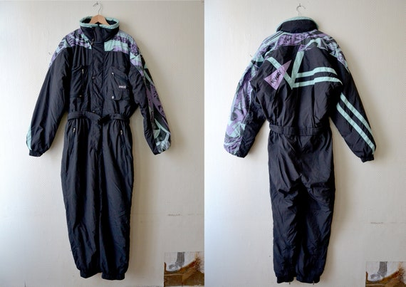 Vintage One Piece Skiing Suit K WAY Winter Olympic