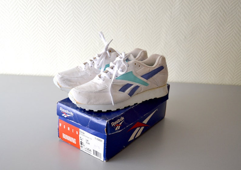 68f13f6bac Vintage sneaker Reebok Rapide Etoile / running sports shoes 90s / woman Us  Size 8.5