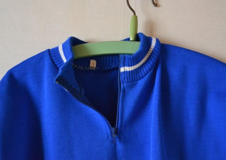 Vintage Cycling jersey KEUKEN HERSELT  blue Cycling T-shirt from Belgium