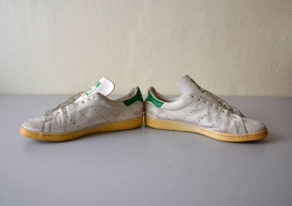 Paire de tennis ADIDAS STAN SMITH made in France sneakers vintage années 80 pointure 50