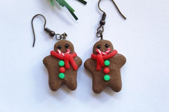 Polymer Clay Christmas Earrings.Gingerbread Man Earrings Polymer Clay Gingerbread Man Earrings Polymer Clay Christmas Earrings Gingerbread Man Dangle Earrings