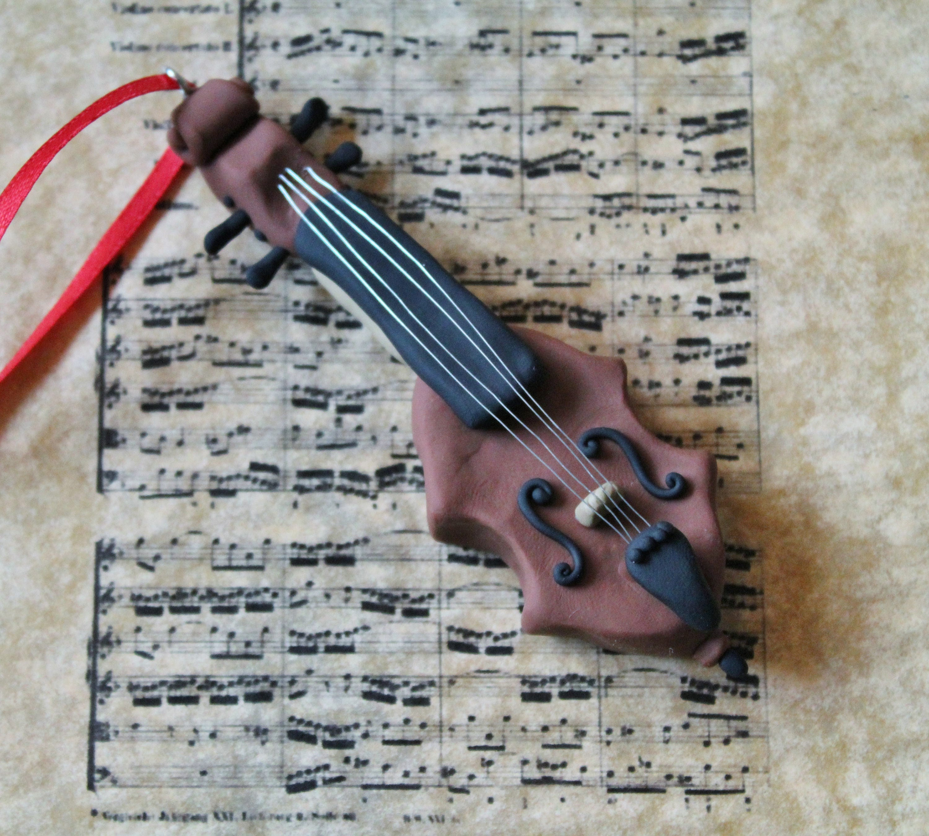 Cello Christmas Ornament Polymer Clay Cello Ornament Hand ...