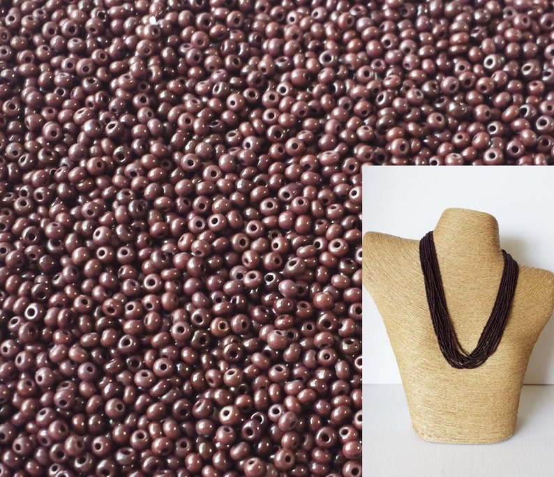 Size 11-25 gram bags Special Buy  10 bags in Brown Colour Glass Seed Beads