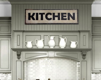96606542da984 Handcrafted Vintage Kitchen Aluminum Sign (36