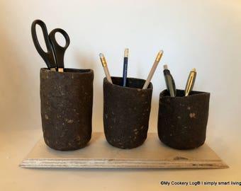 Desk Organizer I Pen Holder I Upcycling of coffee dregs I Gift Idea