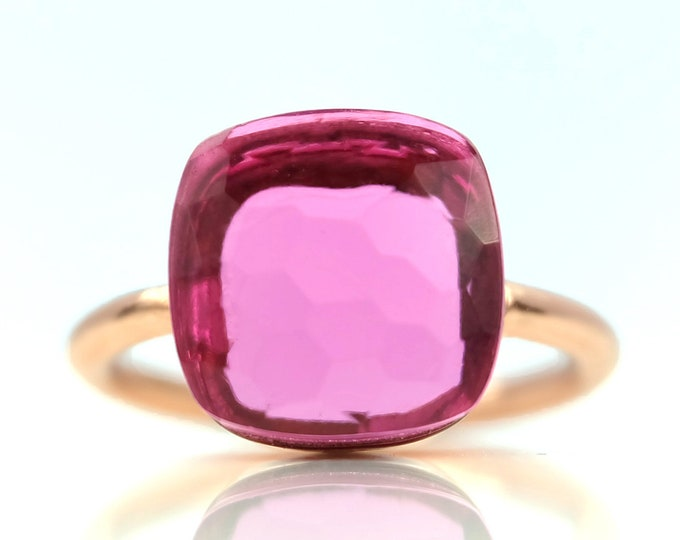 Sucrée Collection | Ring | Pink Tourmaline Quartz | Large Model