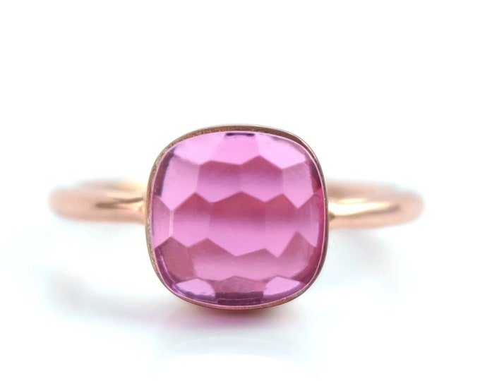 Sucrée Collection | Ring | Pink Tourmaline Quartz | Small Model