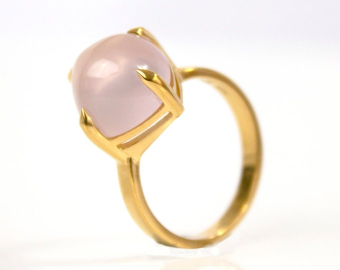 Sugarloaf Collection | Ring | Natural Rose Quartz | Large Model