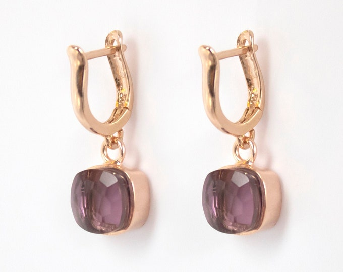 Sucrée Collection | Earrings | Lavender Amethyst | Small Model
