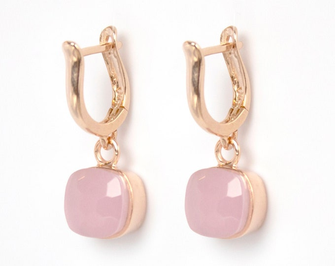 Sucrée Collection | Earrings | Rose Quartz | Small Model
