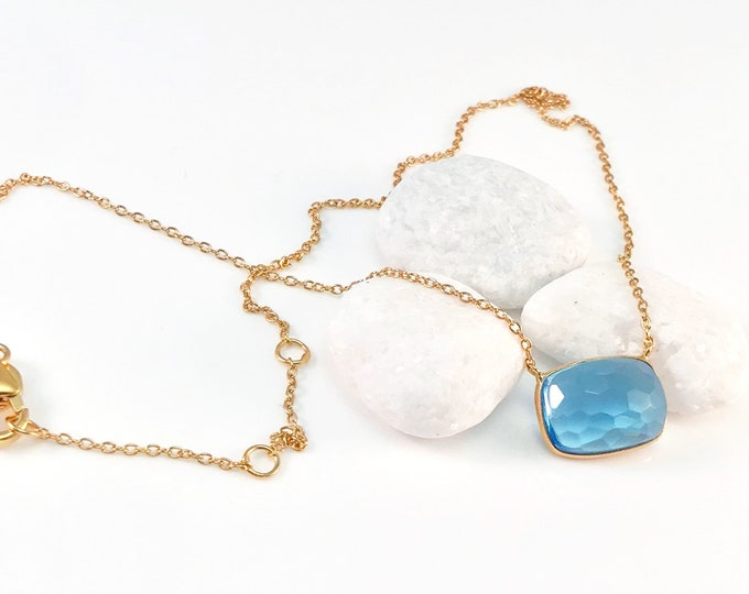 Sucrée Collection | Necklace | Swiss Blue | Rectangle Model