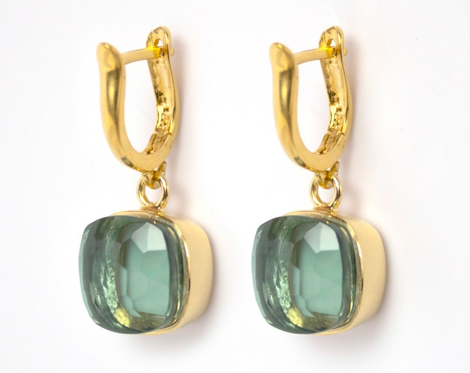 Sucrée Collection | Earrings | Prasiolite | Large Model