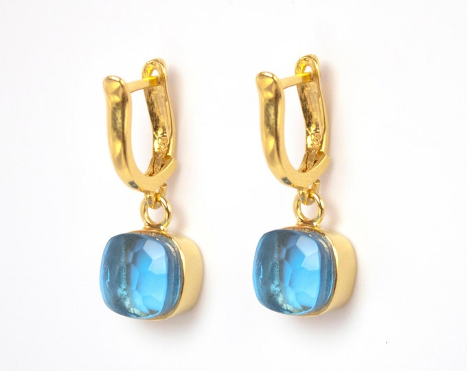 Sucrée Collection | Earrings | Swiss Blue | Small Model