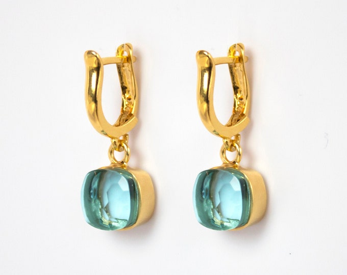 Sucrée Collection | Earrings | PSky Blue Topaz | Small Model