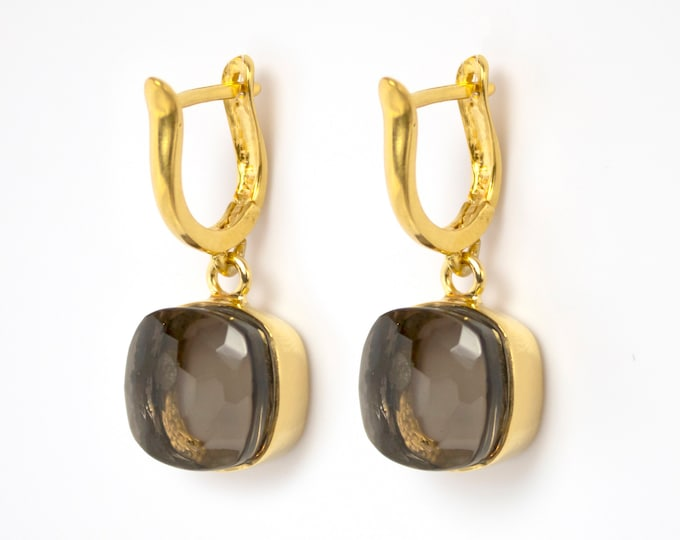 Sucrée Collection | Earrings | Smoky Quartz | Large Model