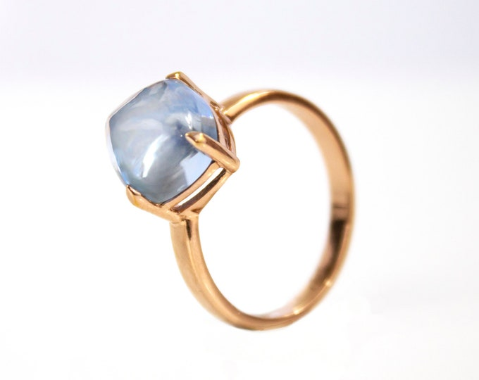 Sugarloaf Collection | Ring | Swiss Blue | Small Model