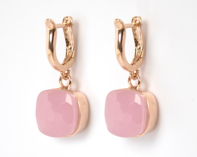 Sucrée Collection | Earrings | Rose Quartz | Large Model