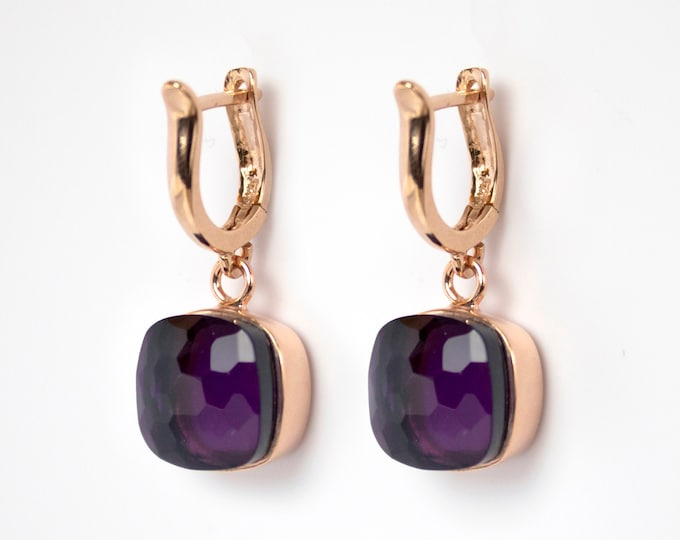 Sucrée Collection | Earrings | Purple Amethyst | Large Model